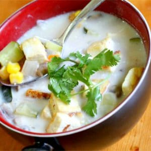 yummy soups for everyone - coconut and ginger soup