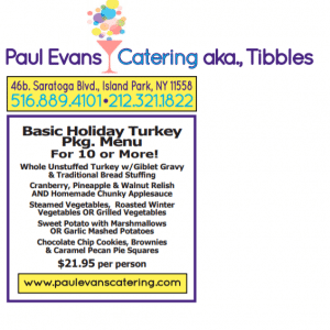 Thanksgiving With Paul Evans Catering
